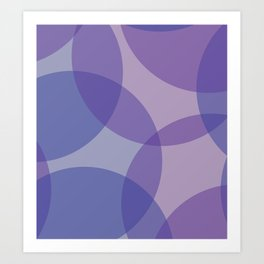 purple circle - Interior and lifetyle Art Print