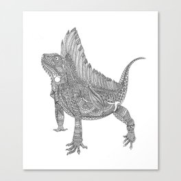 Iguana Xamânica Canvas Print