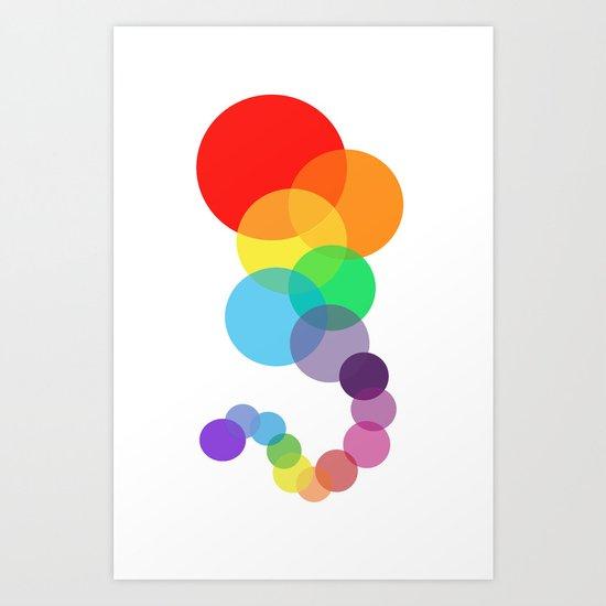 Rainbow Train Art Print