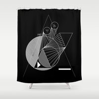metropolis Shower Curtains featuring Metropolis by Federico Leocata LTD