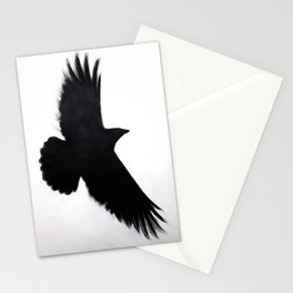 Raven Silhouette Stationery Cards