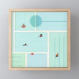 Saturdays At The Pool Framed Mini Art Print
