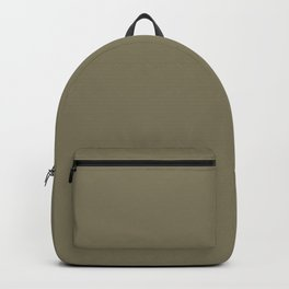 Cheap Solid Dark Army Brown Color Backpack