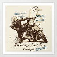 motorcycle Art Prints featuring Motorcycle by Danilo De Donno