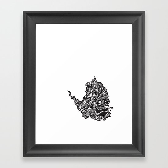 Hairy Smoke Bastard #1 Framed Art Print