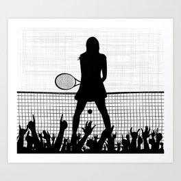 Tennis Ace Art Print