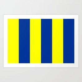Golf Flag Art Print