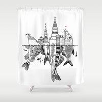 copenhagen Shower Curtains featuring Copenhagen by CAB Architects