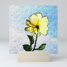 Yellow rose in the sky Mini Art Print