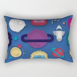 Around the Space Rectangular Pillow