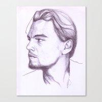 leonardo dicaprio Canvas Prints featuring Leonardo DiCaprio by Art by Kylie