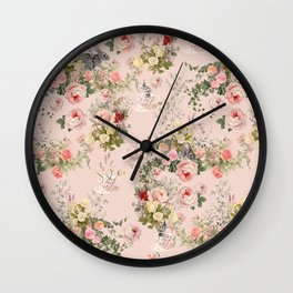 Pardon Me There's a Bunny in Your Tea Wall Clock