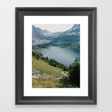 Mountain Goat at Hidden Lake Framed Art Print