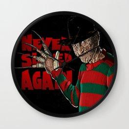 Never Sleep Again Wall Clock