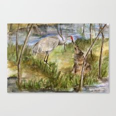 The Heron and the Wolf Canvas Print