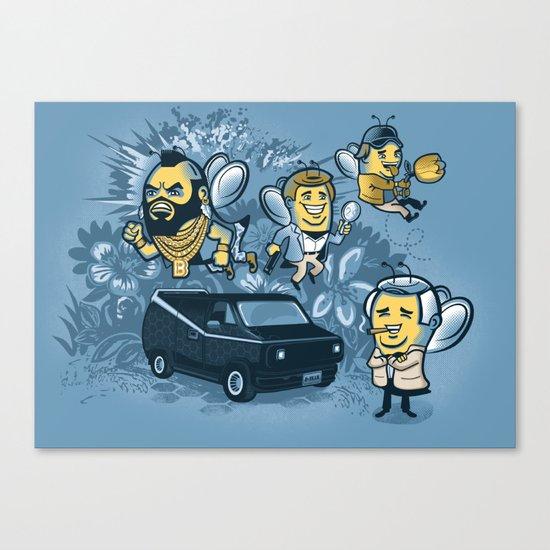 Bee Team 2 Canvas Print