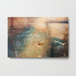 Shabby Wall Metal Print