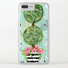 Topiary Clear iPhone Case