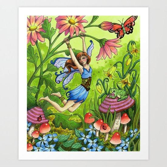 Meadow Fairy Art Print
