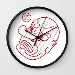Tengu Mask Wall Clock