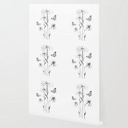 Flowers and butterflies 2 Wallpaper