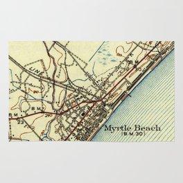 Vintage Map of Myrtle Beach South Carolina (1940) Rug