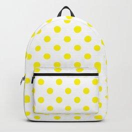 Polka Dot Yellow On White Backpack