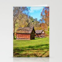 allyson johnson Stationery Cards featuring Johnson City Tennessee Cabins by Mary Timman
