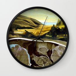 Down To The Sea Wall Clock