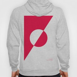 coral/white circle oblique Hoody