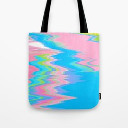 Neon Spill Abstract Tote Bag