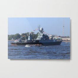 Military torpedo battleship Kazanec Metal Print