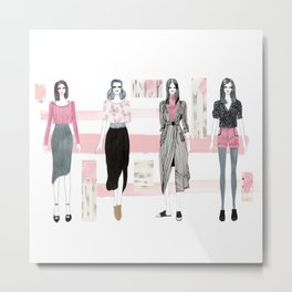 Pink Fashionary Metal Print