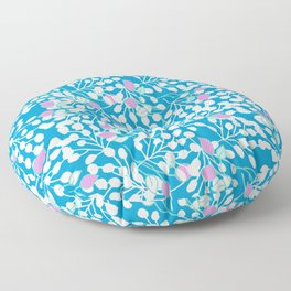 Floral Turquoise Floor Pillow