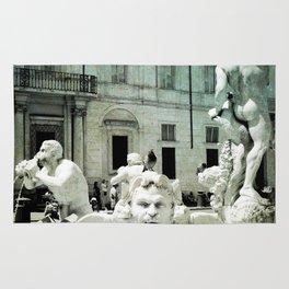 Neptune Fountain Rome Italy Rug