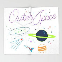 Outer Space! Throw Blanket