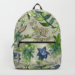 Alpine Flowers - Gentian, Edelweiss Backpack