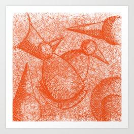 Metaphysical Penguin X Art Print