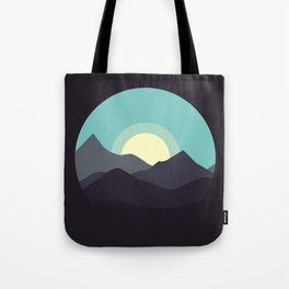 Minimal Mountain Night Tote Bag