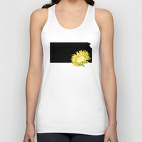 kansas Tank Tops featuring Kansas Silhouette by Ursula Rodgers