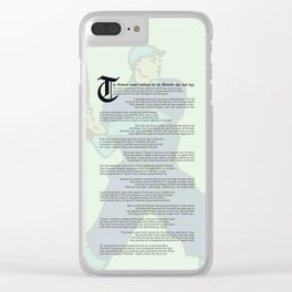 Casey at the Bat Clear iPhone Case