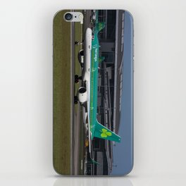 Aer Lingus Boeing 757 EI-LBT operating the inaugural Dublin to Toronto flight iPhone Skin