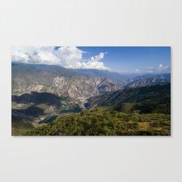 Chicamocha Canyon Canvas Print