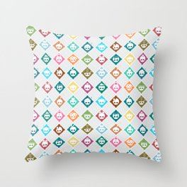 The Nik-Nak Bros. Multee Kolour Flipped Throw Pillow