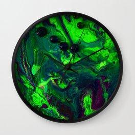Green Plasma Wall Clock