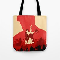 bioshock infinite Tote Bags featuring Bioshock Infinite by Bill Pyle