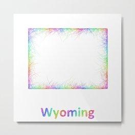 Rainbow Wyoming map Metal Print
