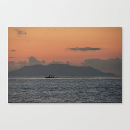 Sailing lonely Canvas Print
