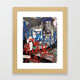 affichage interdit Framed Art Print