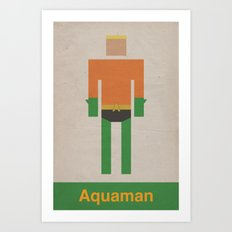 Retro Aquaman Art Print